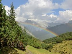 Regenbogen über der Kristenalm Photo Ursula Lucius